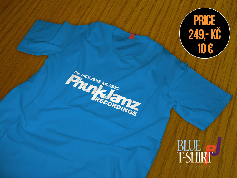 tshirt blue phunk jamz recordings